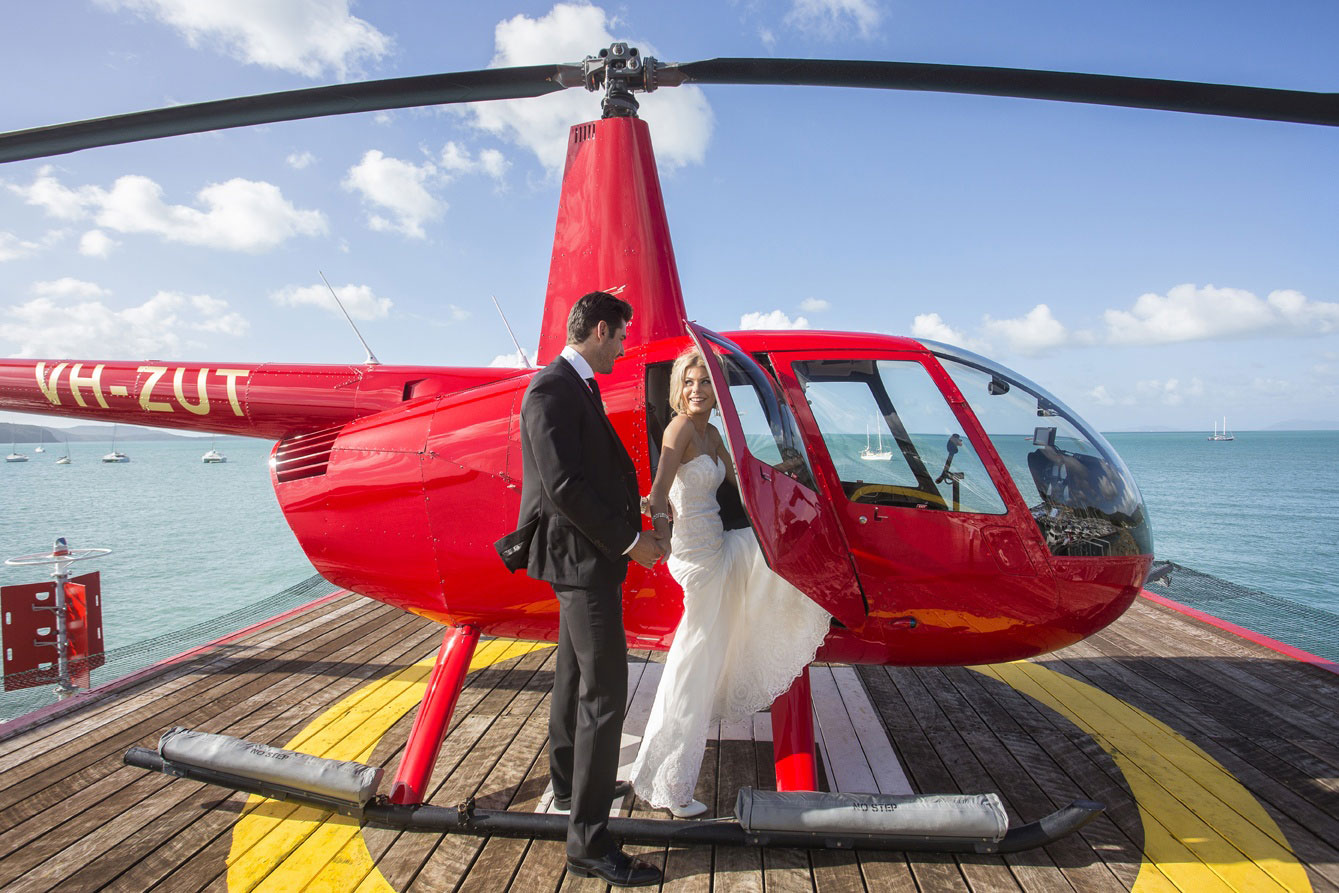 Lure Wedding Entrance - Private Helicopter