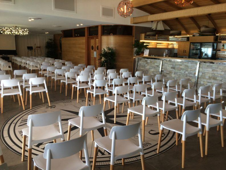 Theatre Style seating in Quadrant room and compass bar