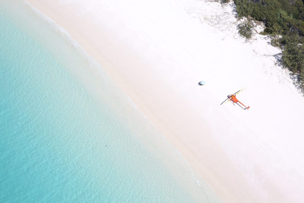 Helicopter to Whitehaven Beach