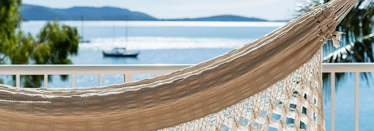 Hammock on the balcony at Coral Sea Resort Hotel